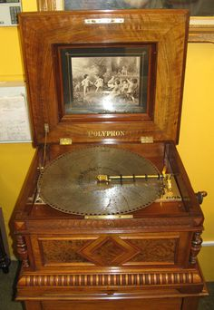 Antique Polyphon Duplex Disc Music Box C 1898 Bo