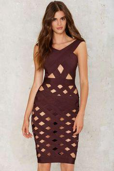 Cage Turner Bodycon Dress