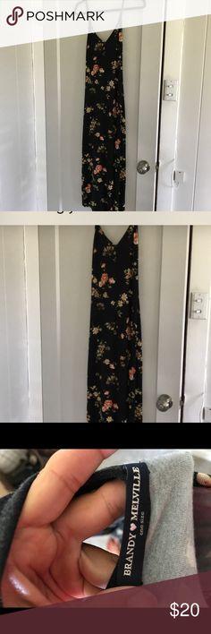 Brandy Melville floral maxi dress Brandy Melville floral maxi dress. Black. One size Brandy Melville Dresses Maxi