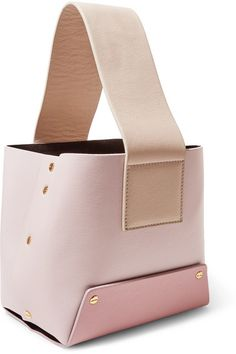 Yuzefi | Tab color-block textured-leather tote | NET-A-PORTER.COM