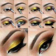"""Step By Step   Brushes are : @hairandmakeupaddiction Luxury Eye Set  1. With """"The Shader"""", pat MAC Soft Ochre  2. With the other side of """"The Shader"""", apply @Vanessa Samurio Samurio Barney """"Throphy Wife"""" all over the lid  3. With """"The Detailer"""" add brownish black  4. Using """"The Crease Blender"""" to blend the crease with """"Sienna"""" from @anastasiabeverlyhills Lavish Palette  5. With """"The Blender"""", blend..."""