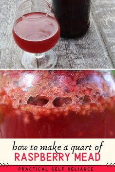 Alcohol Recipes, Wine Recipes, Real Food Recipes, Homebrew Recipes, Fermented Honey, Fermented Foods, Raspberry Beer, Homemade Maple Syrup, Mead Recipe