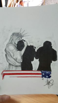 American Pride, Armed Forces, Unique Art, My Drawings, Liberty, Cool Art, Arms, Baseball Cards, Cool Stuff