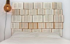 Novel-Covered Bedroom Decor - Create a Reader's Dream Room with the DIY Book Headboard (GALLERY)