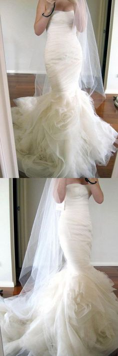 Ivory Wedding Dresses Custom Made Wedding Dresses Wedding Dresses Mermaid 2018 Wedding Dresses Soft Wedding Dresses, Short Wedding Gowns, Bridesmaid Dresses 2018, Wedding Dress Chiffon, Stunning Wedding Dresses, Sweetheart Wedding Dress, Gorgeous Wedding Dress, Cheap Wedding Dress, Ivory Wedding