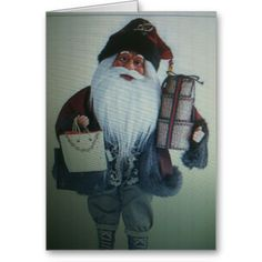 THE SHOPPING SANTA CHRISTMAS CARD
