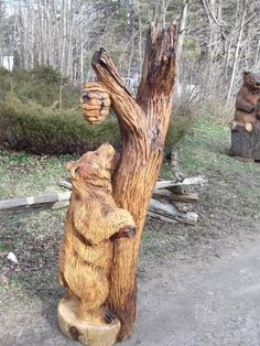 The Worlds Most Visited Video Chat Chainsaw Wood Carving, Wood Carving Art, Wood Carvings, Chain Saw Art, Tree Sculpture, Metal Sculptures, Abstract Sculpture, Bronze Sculpture, Bear Decor
