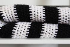 NZ WOol Baby Blanket - Stripe - Crochet - Cot Size by DveCreative on Etsy