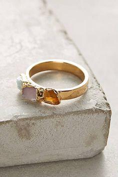 Raw Gemstones Ring