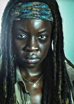 Brilliant Walking Dead Fan Art Features Portraits of Our Favorite Characters | moviepilot.com