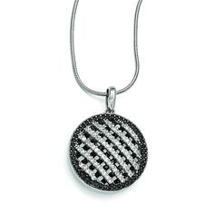 Share & Earn earn Bonus reward points toward fine jewelry Sterling Silver &... Check it out here! http://shirindiamond.net/products/sterling-silver-cz-brilliant-embers-circle-necklace-qmp983-18?utm_campaign=social_autopilot&utm_source=pin&utm_medium=pin