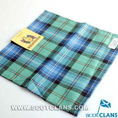 Clan Urquhart Ancient Wool Tartan Handkerchief