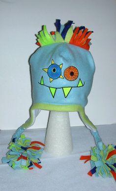 Cute and Warm Double Fleece Monster Hat!