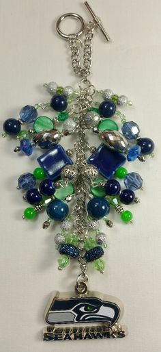 Seattle Seahawks Purse Charm   ~ available at https://www.etsy.com/shop/magic365