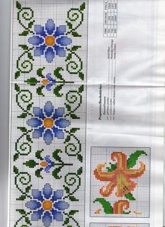 Marluce Barbosa's media content and analytics Cross Stitch Fruit, Cross Stitch Letters, Cross Stitch Bookmarks, Cross Stitch Borders, Cross Stitch Rose, Cross Stitch Flowers, Counted Cross Stitch Patterns, Cross Stitch Designs, Cross Stitching