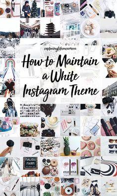How I Edit My Instagram 2018 (white theme)