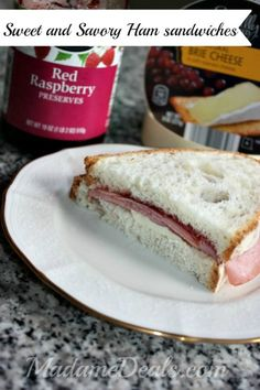 ALDI Meals: Sweet and Savory Ham Sandwich Recipe  #ALDI #recipes  #inspireothers