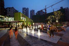 Vanke Chongqing Xijiu Plaza, Chongqing by ASPECT Studios >>> http://landarchs.com/awesome-plaza-design-shows-china-world-leaders-landscape-architecture/