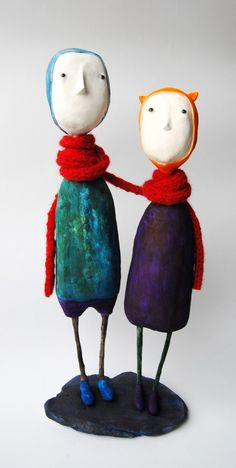 Custom art dolls of your couple. $250.00, via Etsy.