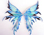 OOAK Fairy Pixie Bear Iridescent Art Doll Wings