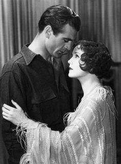 """Gary Cooper & Nancy Carroll """"The shopworn Angel"""" 1928 Old Hollywood Glamour, Hollywood Actor, Golden Age Of Hollywood, Classic Hollywood, Vintage Hollywood, Hollywood Actresses, Gary Cooper, Classic Actresses, Classic Movies"""