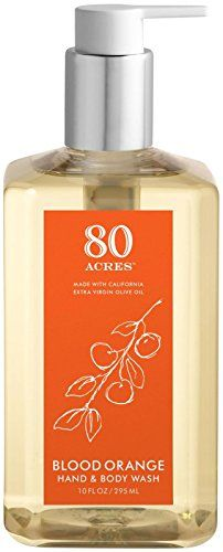 80 Acres Blood Orange Hand & Body Wash - 10oz Our luxurious foaming wash features aloe and glycerin for superior moisturizing and gentle cleansing as well as olive leaf extract and other antioxidant-r...