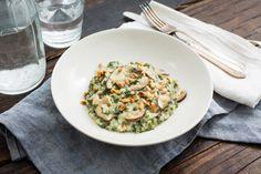 Risotto met boerenkool & champignons