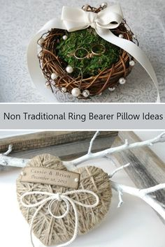 Non Traditional Ring Bearer Pillow Ideas | http://weddingideasbyyou.com/2014/04/04/non-traditional-ring-bearer-pillow-ideas/ | Follow Us http://www.pinterest.com/weddingideasbyu