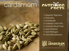 Nutritional Facts!  Cardamom - Its health benefits are amazing. Helping treat a wide range of illness. Lets know some valuable info about it.  #srijanakiram #Cardamom #nutritionalfacts