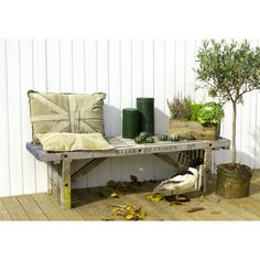 KØB Plus Rustik Trallebænk, 165 cm, ubehandlet genbrugstræ - Pris & Tilbud her! Entryway Bench, Diy And Crafts, Outdoor, Furniture, Home Decor, Garden, Terrace, Entry Bench, Outdoors