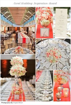 #Coral #Wedding #Inspiration Board