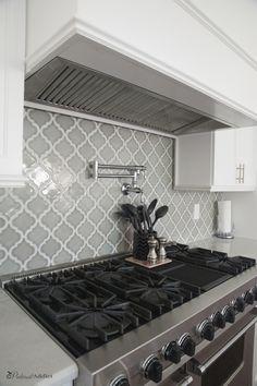 Our Pinterest Inspired Kitchen - Moen pot filler - Viking Range