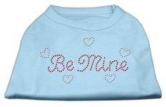 Mirage Pet Products 52-12 XXLBBL Be Mine Rhinestone Shirts Baby Blue XXL - 18