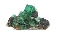 Emerald Green English Fluorite Crystal Cluster by FenderMinerals,