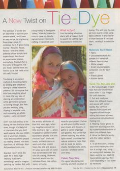 Natural Tie Dye (Mary Jane's Farm mag)