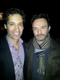 Stephen Lobo (Kellog) and John Cassini (Marco) at the Continuum Season 2 premiere party. (via J_L_Walker on YFrog)