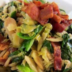 Warm Brussels Sprout, Bacon and Spinach Salad - Allrecipes.com
