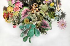 Anne ten Donkelaar, Flower Constructions #collage