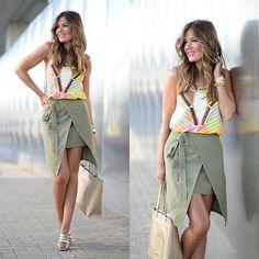 Get this look: http://lb.nu/look/7617028  More looks by Helena Cueva: http://lb.nu/miaventuraconlamoda  Items in this look:  Zake Top, Romwe Skirt, Abbacino Handbag, Mango Sandals   #casual #chic #elegant