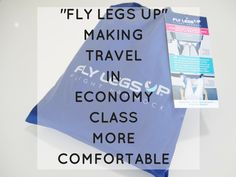 Flying in economy, especially long haul, can be really difficult. That's why this new product, Fly Legs Up is such a great idea. It keeps your legs up, improving circulation, and making it much more comfortable.