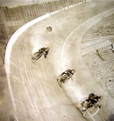 Motorcycle board track race, circa 1910
