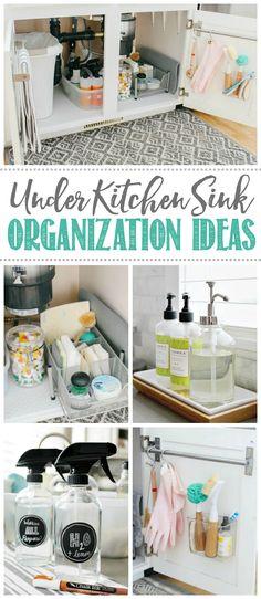 Under Kitchen Sinks, Under Kitchen Sink Organization, Kitchen Sink Decor, Home Organization, Household Organization, Kitchen Jars, Kitchen Stuff, Diy Kitchen, Kitchen Storage