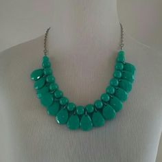FinalNWT.  Statement necklace and earrings Beautiful turquoise set. Jewelry Necklaces