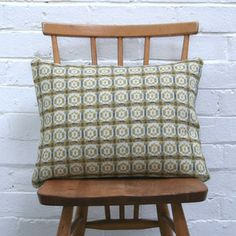 Image of Vintage Welsh Tapestry Cushion (Ochre)
