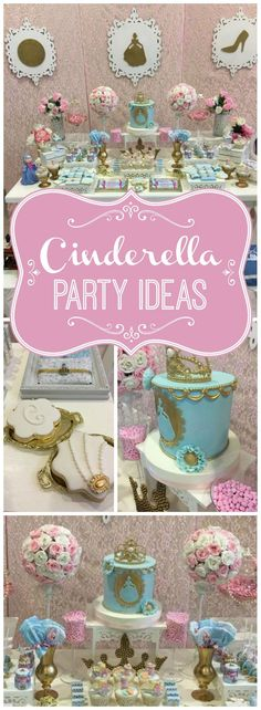 How dreamy is this Cinderella girl birthday party?! See more party ideas at Catchmyparty.com!