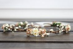 Ivory Flower crown Bridal Flower Crown by myfashioncreations