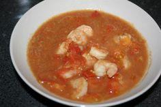 HCG Diet Recipe - Curried Shrimp & Tomato Soup