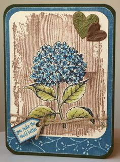 Hydrangea card by Anna-Karin (A-K), via Flickr. She has some other beautiful hydrangea cards in her photostream too.
