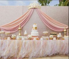 Absolutely LOVE this for a baby shower . Especially since I plan to do pink and… Absolutely LOVE this for a baby shower . Especially since I plan to do pink and gold for a girl Shower Party, Baby Shower Parties, Baby Shower Themes, Baby Shower Decorations, Shower Ideas, Baby Girl Babyshower Themes, Birthday Decorations, Royal Baby Shower Theme, Baby Shower Candy Table