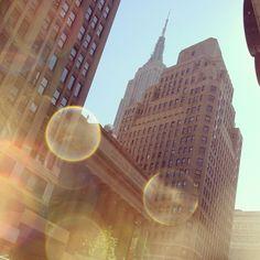 Sneak peek of the empire! #empire #newyork #nyc #today #instapic #instalove - @camillaglamgerous- #webstagram